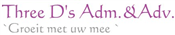 Three Ds Adm.&Adv. logo